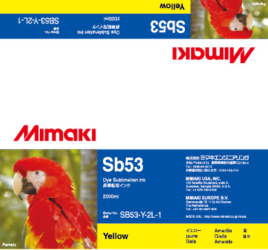 Mimaki Чернила Mimaki SB53 Yellow